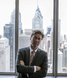 Emmett Madden with Philadelphia skyline